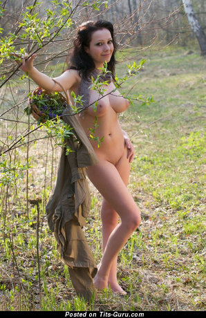 Image. Nude amazing woman with big natural breast pic