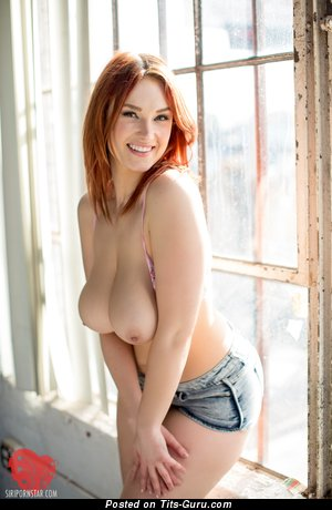 Superb Red Hair with Superb Exposed Real Medium Tittes (Hd Sexual Wallpaper)