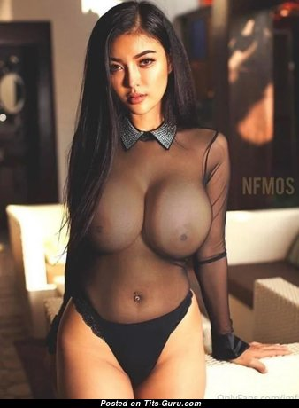Yanisa Samohom - Superb Undressed Asian Brunette with Large Nipples (Xxx Wallpaper)