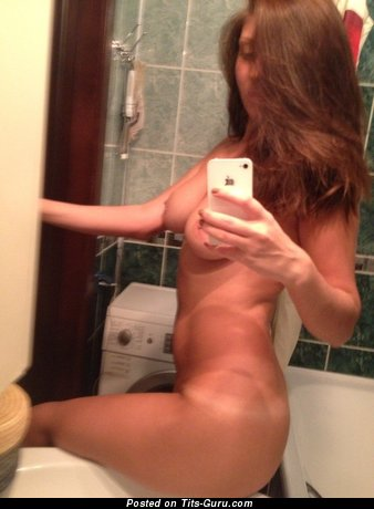 Topless amateur beautiful girl selfie