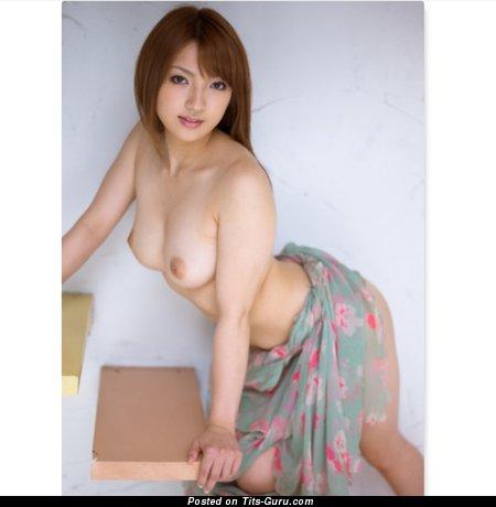 Shiori Kamisaki - Splendid Topless Asian Babe with Splendid Open Natural Chest (Hd 18+ Pic)