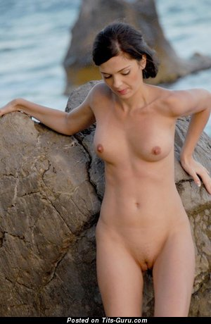 Image. Adel A - naked brunette with small natural tittys image