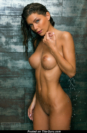 Image. Wet brunette with medium tots image