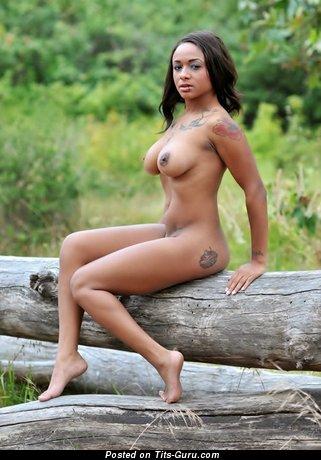 Image. Sexy topless ebony image