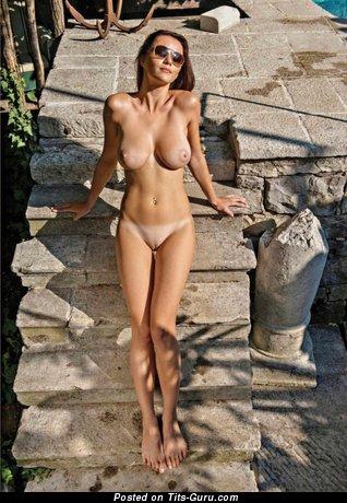 Image. Naked nice woman with big natural tots photo