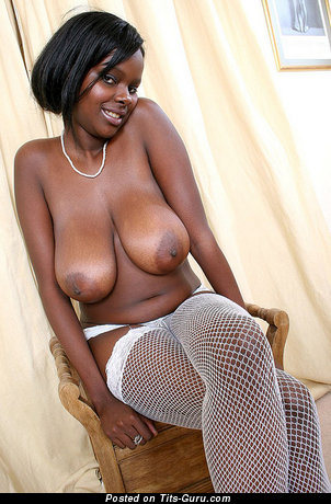 Image. Nude ebony with big natural breast pic