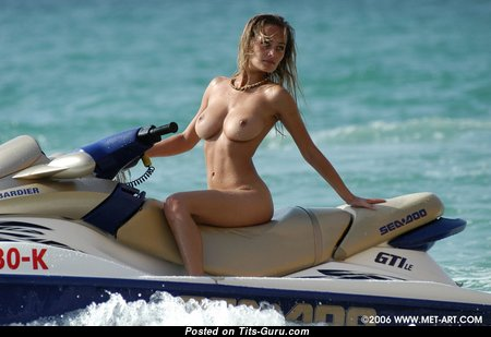 Splendid Babe with Splendid Bare Natural C Size Busts on the Beach (Hd Porn Photoshoot)