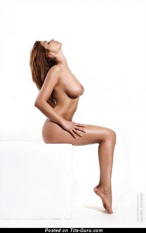 Stunning Doll with Stunning Bald Medium Titties (Porn Foto)