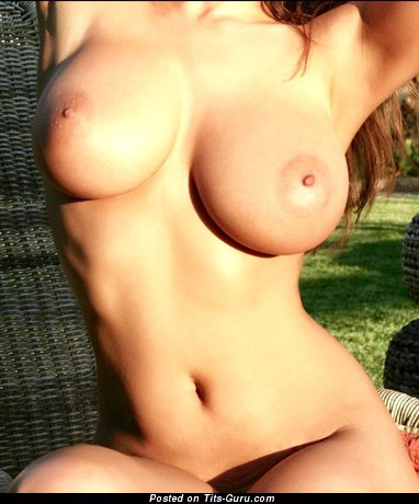 Sexy amateur naked nice lady with fake tits image