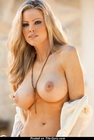 Naked blonde with medium breast image
