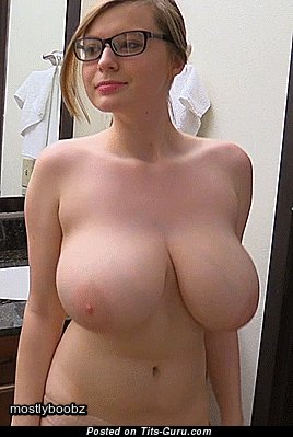 Image. Naked wonderful lady with huge natural boob gif
