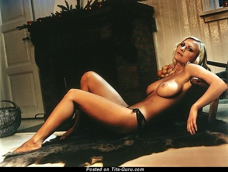 Anna Richter-Trummer - Alluring Playboy Blonde Babe with Alluring Exposed Natural Medium Busts (Hd Sexual Image)