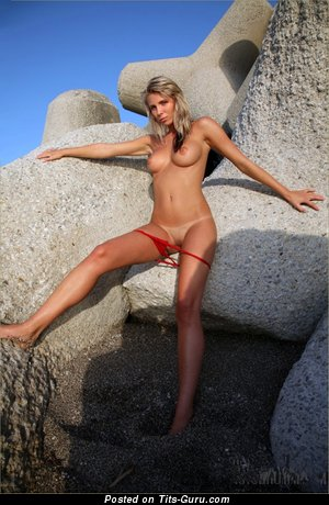 Image. Danae - nude blonde with medium natural boobies pic