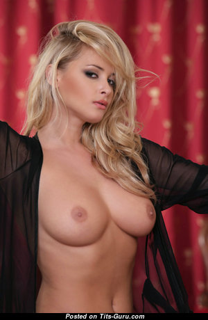 Stunning Blonde Babe with Grand Bald Real C Size Busts (Hd Porn Picture)