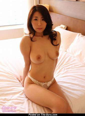 Julia Boin: topless asian brunette with big natural boobies picture