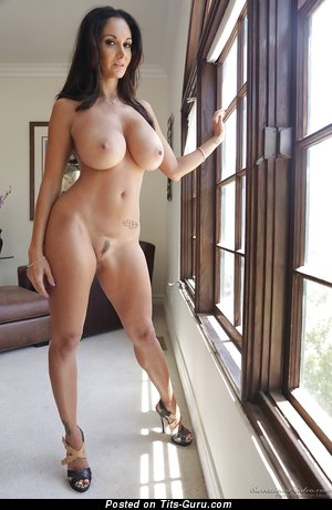 Image. Ava Addams - sexy topless brunette with big boob image