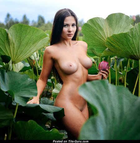Image. Naked amazing female with medium natural boob image