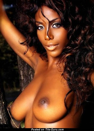 Image. Naked ebony with medium natural boobs pic