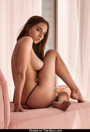Katya Aivazova - Good-Looking Babe with Good-Looking Nude Natural Boobie (Porn Wallpaper)