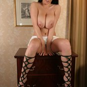 Ewa Sonnet - brunette with huge natural tittys photo