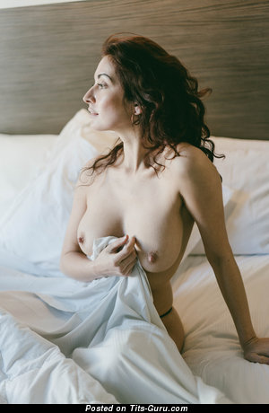 Sexy nude wonderful woman with medium natural tittes pic