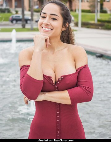 Bruna Luccas - Fascinating Brunette Babe with Grand Bare Round Fake Mid Size Melons is Doing Fitness (Hd Sex Pic)