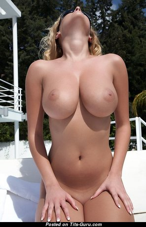 Dazzling Blonde Babe with Dazzling Open Real Soft Boobies & Erect Nipples (Hd Porn Pic)