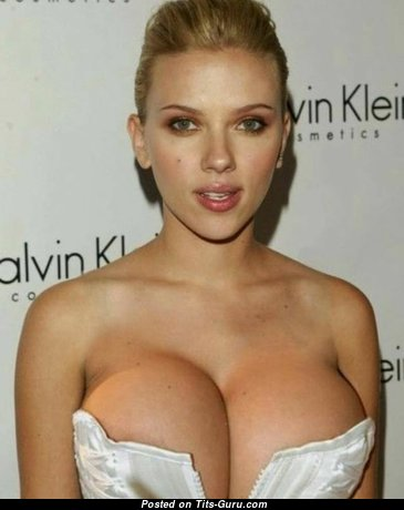 Scarlett Johansson - Superb Glamour & Non-Nude American Blonde Babe & Actress with Superb Big Hooters (Sexual Picture)