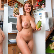 Amazing woman with huge natural boob image