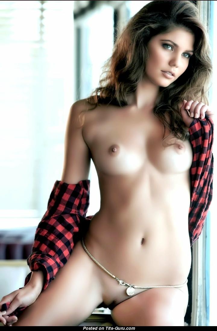 Nude brunette wife with huge nipples