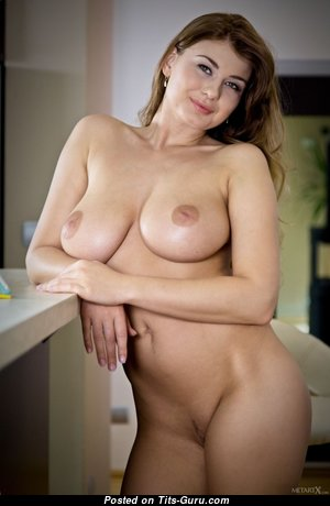 Lusy Li - Pleasing Brunette Pornstar with Pleasing Defenseless Natural Average Tittes (Sexual Pic)