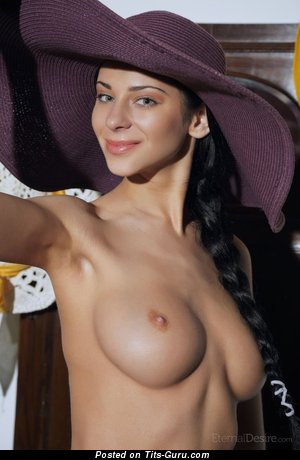 Carlota - Lovely Brunette with Lovely Open Real Soft Tots (18+ Photo)