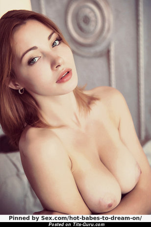 Image. Naked beautiful girl with medium natural tittys image