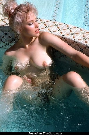 Image. Cher Butler - blonde with big natural boob and big nipples vintage
