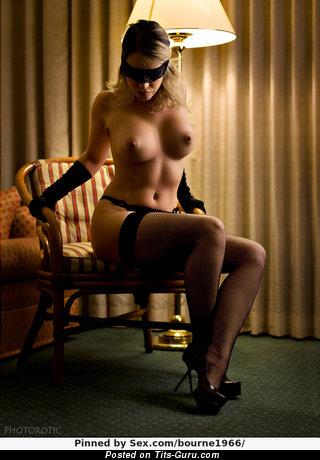 Image. Naked beautiful female with medium boobies pic