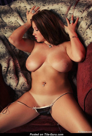 Fine Brunette with Fine Open Real Medium Sized Titty (Sexual Image)