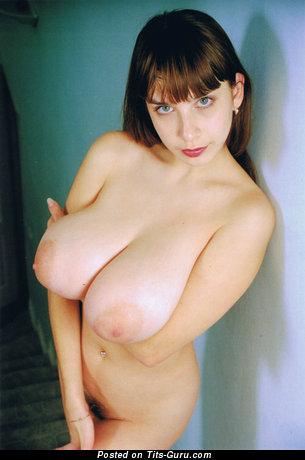 Yulia Nova - nude brunette with big natural tits pic