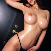 Sexy asian brunette with big tits photo