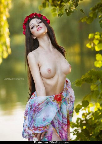 Image. Sexy topless amateur amazing female with natural breast picture