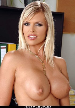 Wivien - Graceful Hungarian Blonde with Graceful Open Fake Melons (18+ Picture)