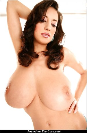 Image. Jana Defi - naked brunette with huge natural breast pic