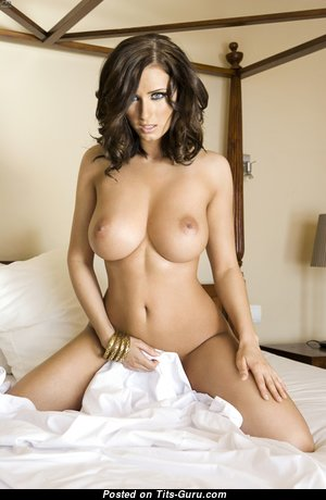 Sammy Braddy - Adorable Topless English, British Brunette with Adorable Naked Soft Hooters & Huge Nipples (Hd Porn Image)