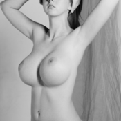 Beautiful woman with big boobs photo