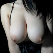 Wonderful lady with big natural breast pic