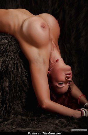 Image. Bianca Beauchamp - naked brunette with huge fake tittys pic