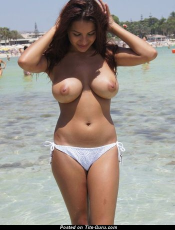 Image. Nice lady with huge natural tots pic