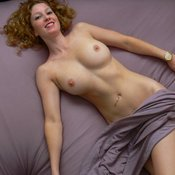 Beautiful female with medium natural breast photo