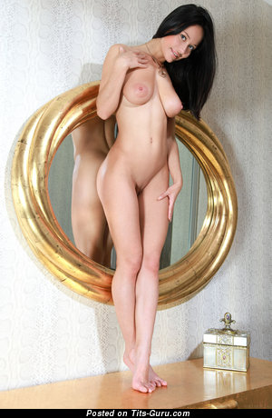 Image. Mila M - naked brunette with big natural boobies picture