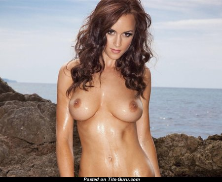 The Best Brunette with The Best Nude Real Normal Boob on the Beach (Xxx Picture)
