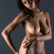 Nice lady with big natural breast photo